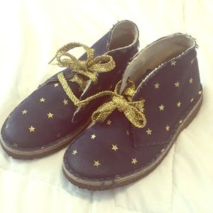 Crewcuts gold navy 11 girls shoes
